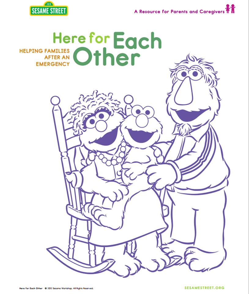 sesamestreet:  Here are some resources to help parents and caregivers speak with children about today's events. (PDF): http://www.sesameworkshop.org/assets/1192/src/HereForEachOther_vEng2012Modified.pdf