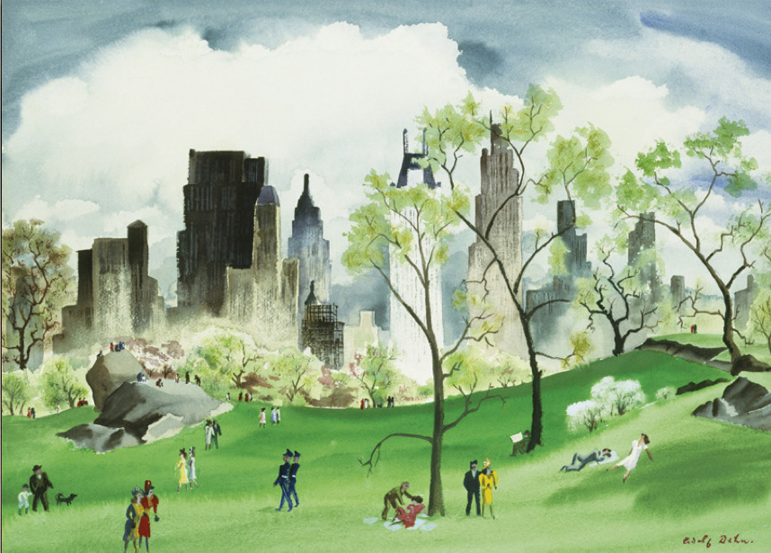 Adolf Dehn (American, 1895-1968) Spring in Central Park, 1941 Watercolor on paper, Metropolitan Museum, New York