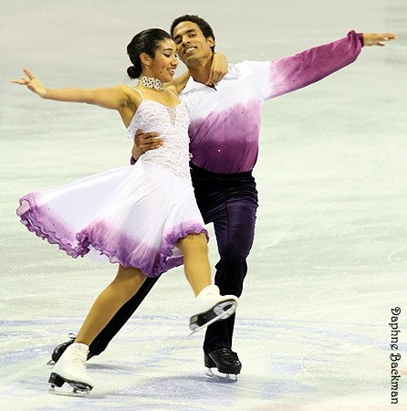 Kassy Kova and Justin Ross skating the Starlight Waltz compulsory dance at the 2010 Novice US National Championships.