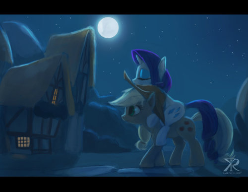 rawtoothsramblings:  Late night at Ponyville by *Raikoh-illust