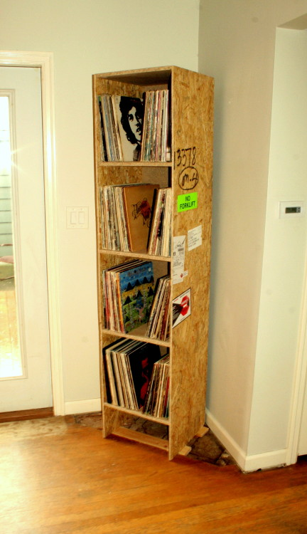 spacebarn:  This used to be a shipping crate.   I made it into a cabinet to hold my records.