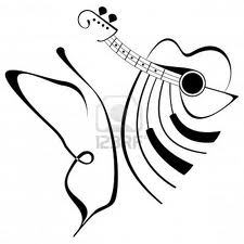 butterfly, piano and guitar O:)