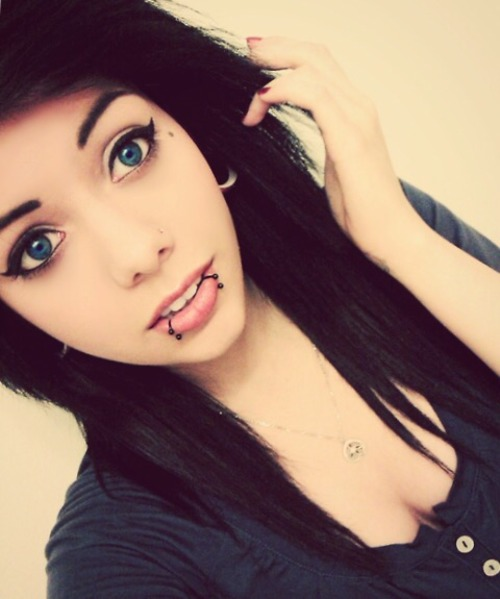 Really. And Selfie girl with lip piercing commit error