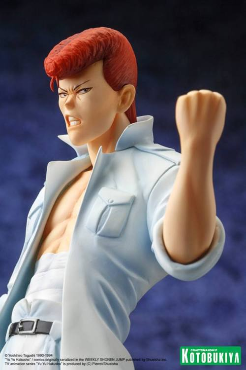 flamingingo:  senor-bizarro:  morethanjustreviews:  (via Kotobukiya Unveils Yu Yu Hakusho Kazuma Kuwabara ARTFX J Statue)  GIVE ME THE KUWA  FINALLY  [[SFDKGKDHA]]