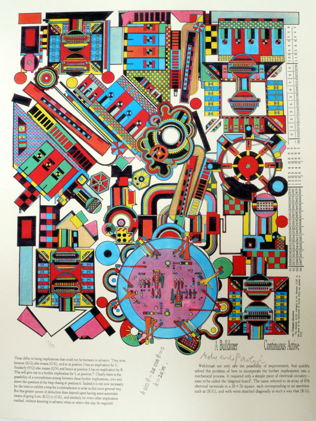 Eduardo Paolozzi, Turing 6, 2000 via http://abstractcomics.blogspot.com/ also:http://www.printeditions.com/atcoll.asp http://www.synth.co.uk/images/paolozzi1.html