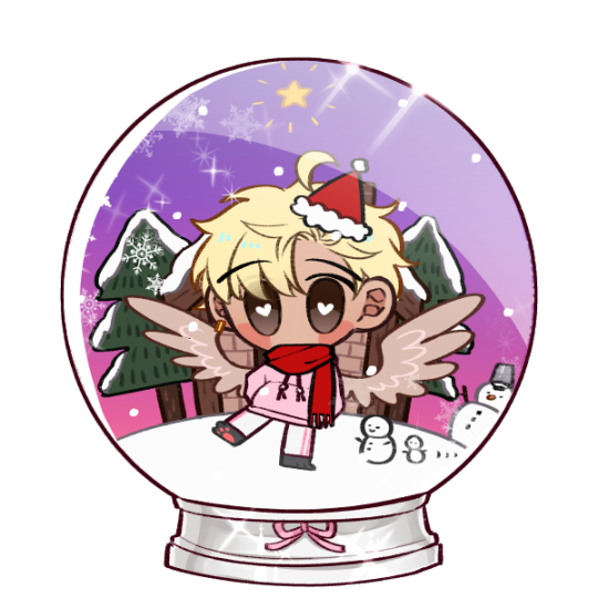 Merry Crismuth~ #☆ s k e l e t o n m a s k ☆『ooc』  #//im gonna need a picrew tag arent i?  #//anyway i lose my shit when i find a picrew that lets me do fred with one ear pierced AND wings ANd has his hair