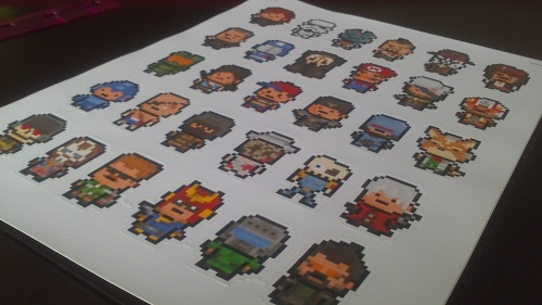 videogamenostalgia:  PixelBlock Random Sticker 6-Packs  Available for $5 each on the PixelBlock Etsy Store  Source : PixelBlock  Want