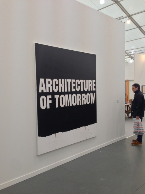 Architecture of Tomorrow, 2013 Gardar Eide Erinarsson  @ the Frieze Art Fair, NYC