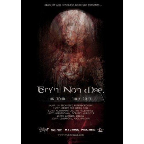 Eryn Non Dae - UK Tour July 2013 #erynnondae #UK #killshot #mercilessbookings #uktechfest #progzonemag