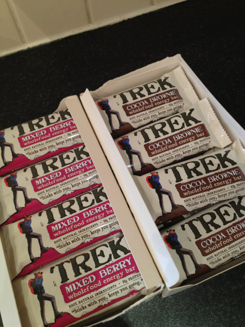 Today…..we bought two boxes of Trek bars! Yay!