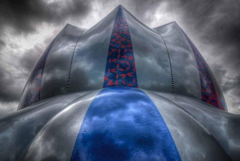 ryanpanos:  Architects of Air Celebrate 22 years of Inflatable Domes with EXXOPOLIS via Designboom EXXOPOLIS is architects of air's 20th luminarium, a cluster of monumental inflatable structures completely illuminated by natural light and until recently, created devoid of computers. the current inflatable is touring the united states, with the most recent technicolored installation at university of california santa barbara. while the wondrously colorful domes have evoked a sense of awe worldwide for the last 22 years, the most recent iteration of the ephemeral structures commemorates the original EGGOPOLIS, created in nottingham with help from volunteers and community service workers. 2 million visitors and 38 countries later, the architectural language has developed into a series of spaces richly informed by the complex geometries of the natural landscape and represents a evolution of the personal formal language of alan parkinson, the company's founder.
