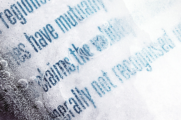 type-lover:  Typography in ice