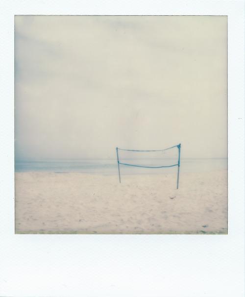 Polaroid analogic beach minimal landscape South Italy