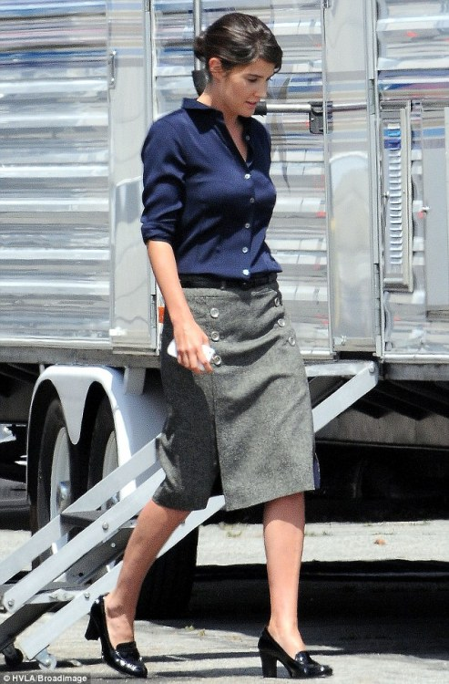 final-five:  Cobie Smulders, on the set of Captain America: Winter Soldier.