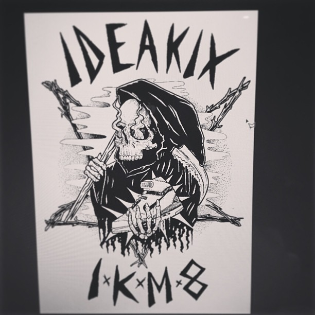#ideakix #illustration #handmade #tshirt #design #aaaghr #ink