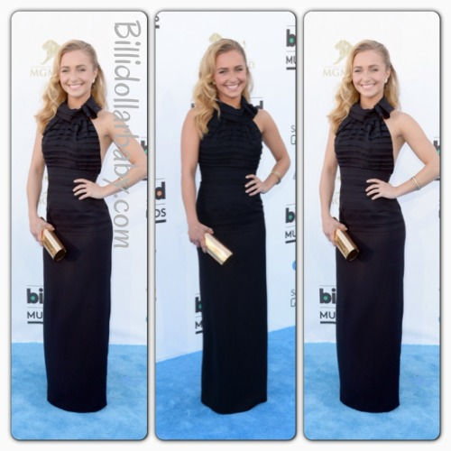 Hayden Panettiere in Halston Heritage at the 2013 Billboard Music Awards  Hayden Panettiere on the blue carpet at the MGM Grand Garden Arena for the 2013 Billboard Music Awards in Las Vegas. She wore a black Halston Heritage Gown from the Spring 2013 Collection.