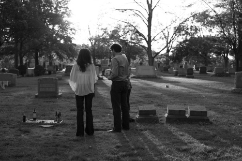 marlenmueller:  At the grave of Jack Kerouac Lowell, Massachusetts 2011