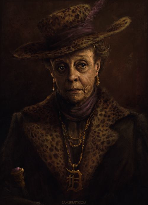 """The Dowager Countess's New Clothes"" - Illustration by Sam Spratt Sometimes I finish something and I have no idea why I made it, but a small part of me knows that it was the right decision."
