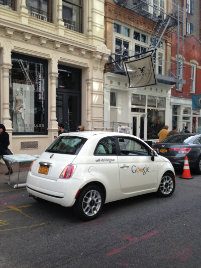 UR NewYork sporting the NEW Google Self Driving car. We returned it today :(  #urNewYork #skimst #2esae