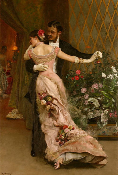 hoodoothatvoodoo:  Rogelio de Egusquiza 'The End Of The Ball'