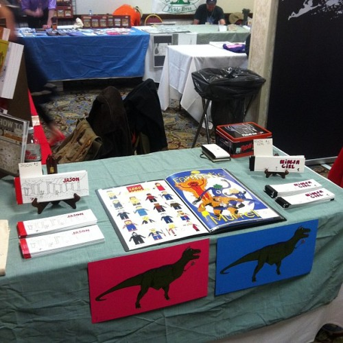 My table at SPACE! Come say hi! #space #comics #ohio #columbus