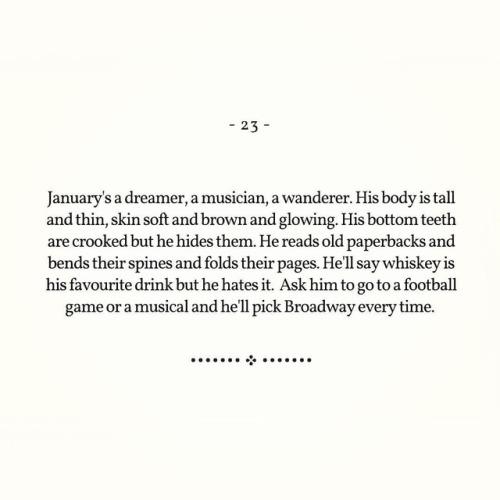 23 january january series writing