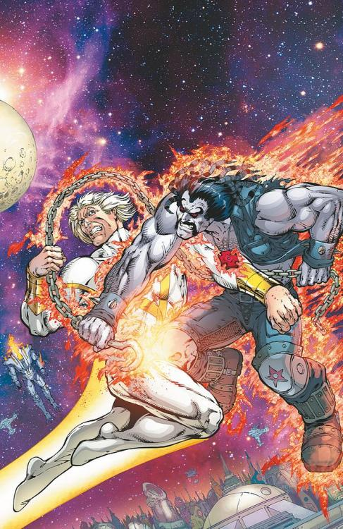 STORMWATCH #22Written by JIM STARLINArt by YVEL GUICHET and LeBEAU UNDERWOODCover by JIM STARLIN and ROB HUNTEROn sale JULY 3 • 32 pg, FC, $2.99 US • RATED T+Don't miss the violence and destruction on the day Lobo joins StormWatch! How can the universe survive a battle between Lobo and Apollo?
