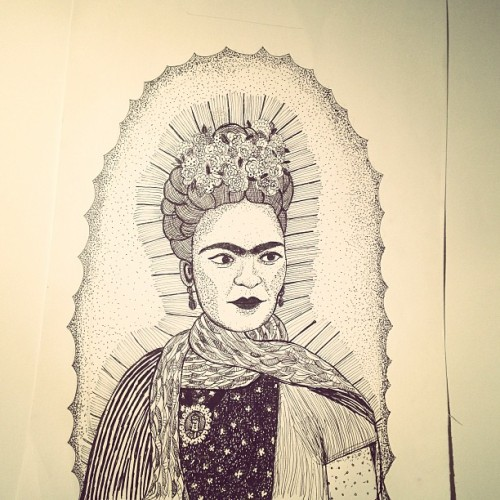 done my Frida drawing.