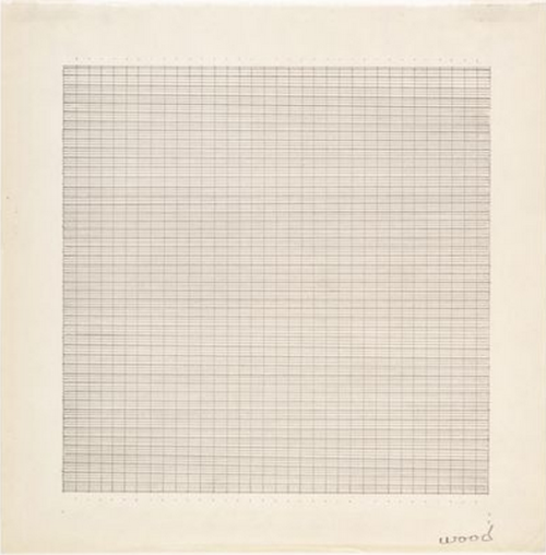 mmebottomline:  Agnes Martin, Wood, 1964   |   Today marks AM's 101st birthday.
