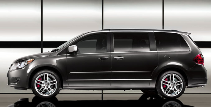The Supervan for Supermoms: Porsche has been adding new types of vehicles to their lineup for the past few years, trying to move into markets in which they've never been. First there was the Cayenne SUV, then the Panamera Sedan, to the Macan small SUV, and they waited until after the New York International Auto Show to release this… The first image of the Porsche Ducane minivan. It will be built on an up-scaled version of the Volkswagen Routan platform (which is shared with Dodge/Chrysler) but it won't be powered by the same Chrysler engine as the Routan. No kids, mommy gets the same V8 engine as the Cayenne S, which pushes 400hp. Not only is it the most powerful production minivan ever, it gets a set of Cayenne wheels and brakes making it one of the safest minivans as well. Now you may think there's no market for this type of luxurious super-minivan, and you may be right. But tell that to the folks who buy brand new fully loaded Toyota Siennas that would love that extra 100hp and the sound of a sports car exhaust rumbling beneath their kids' butts. Pricing is said to fall somewhere between the Boxster and Cayenne.