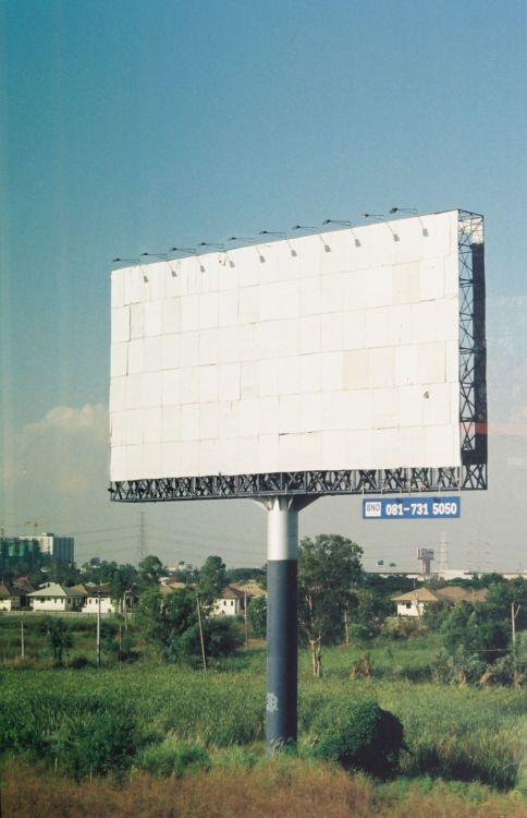 Blank billboard, outer London (by visto-photo)