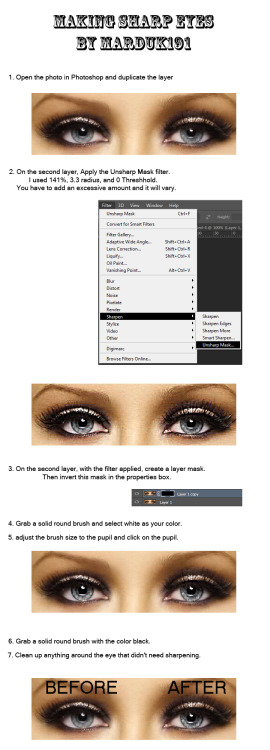 Tutorial: Sharpening eyes in Photoshop by ~marduk191