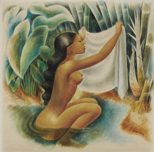 Miguel Covarrubias, Bather Holding Up Her Kemban