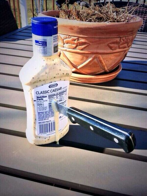 three-cheers-for-pretty-odd: valjar:  cannon-fannon:  greeedybastard:  diggly:  mamacastiel:  why does this have 32k notes? it's just a picture of a knife in a ranch bottle, is there some unspoken joke that 32 thousand people share? what is going on here, i dont get it. it's just a fucking picture of a knife in a ranch bottle. is there some spiritual connection people have to this picture? is there some ominous and mystical reasoning that this has 32 thousand notes? do people reblog this because it makes them look like some indie blogger? or is there just something funny to this? someone please explain  no one tell him  Scheduling this to post on March 15 because it needs to happen.   March 15 again and here we go…  Brutus?    cesar every March 15th:     Aw shit