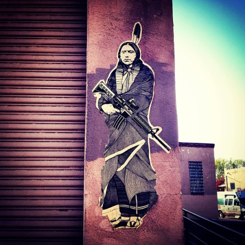 landofpop:  #santafe #streetart #newmexico #nativelands #nativeamerican