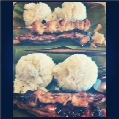Ate this w/Kuya. B-) At Dencios ^^ Feb.TWO :) #foods #bbq #dencios #rice #lunch