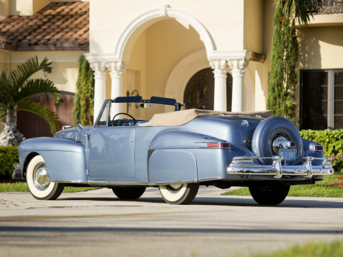 werstd16:  1946 Lincoln Continental Cabriolet  I don't much care for the front end of the 46-48 Continentals, but the rear is just fine.