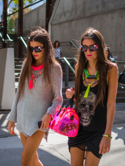 purebeachboho:  streetstyleaustralia:  Mercedes-Benz Fashion Week Australia 2013. Visit http://bit.ly/10PjMNV for more!  LOVE THEM