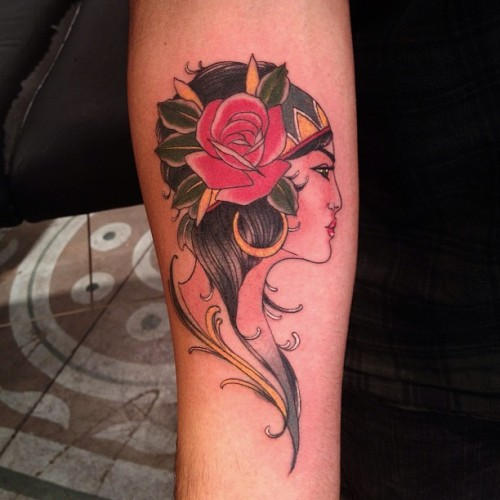Gypsy from last night.  #gypsytattoo (at Everlasting Tattoo)