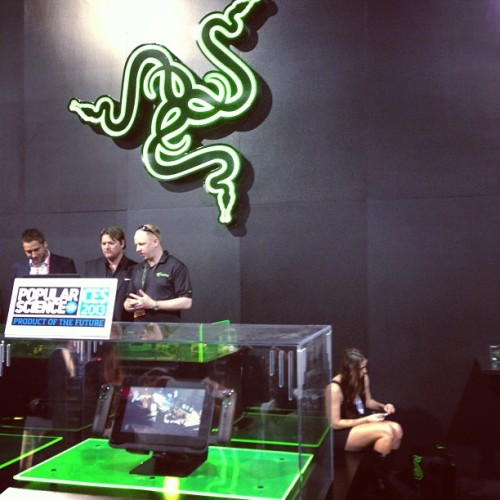 "The Razer Edge, a 10"" Windows 8 gaming tablet w/ Dolby audio, and one of the hot products at #2013CES"