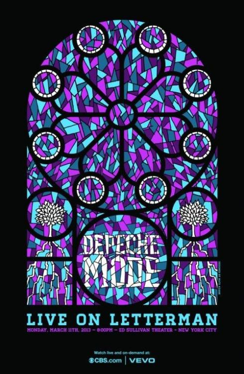 anotherdmfan:   LiveOnLetterman   First look at the poster for @DepecheMode's upcoming #LiveOnLetterman concert webcast. Watch Monday, 8pm ET on CBSi.