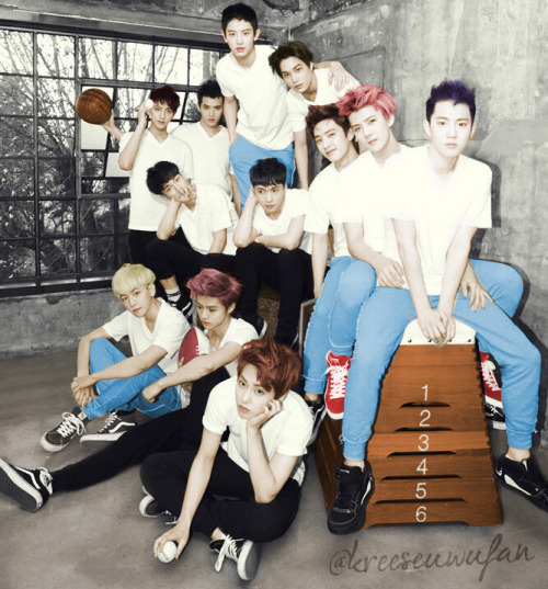 FINALLY DONE WITH THE COLORING!Saw fans coloring EXO's black and white photos so I decided to give it a try. First BnW to colored photo~ :DLeft the background Bnw 'coz I didn't know how to color it. LMAO! please credit when you repost. :)