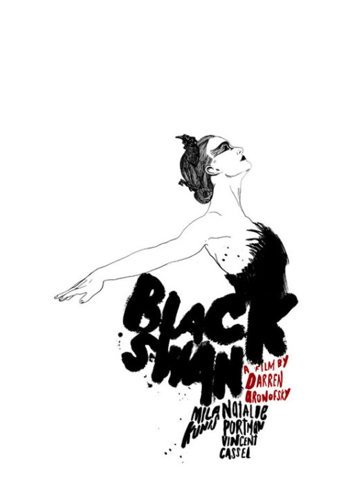 Black Swan alternative movie poster designed by Peter Strain