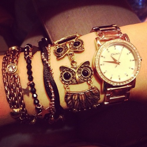 My arm candy. #me #personal #instamood #instastyle #fashion #jewerly #girlie #owl #bracelet #armswag