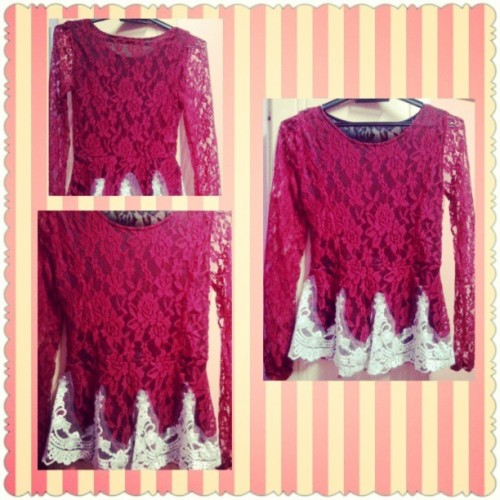 NEW PEPLUM DESIGN FOR SALE! RM39.90 ONLY! FREE POSTAGE FOR SEMENANJUNG. 1ST COMES 1ST SERVED BASIS LIMITED STOCK!! #KeymeyOn9Shopping #red #peplum #lace #dress