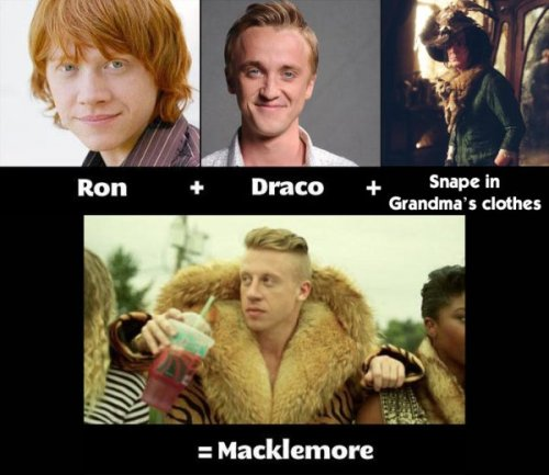 collegehumor:  So THAT'S Where Macklemore Comes From Whatchu know bout adding up Harry Potter characters?