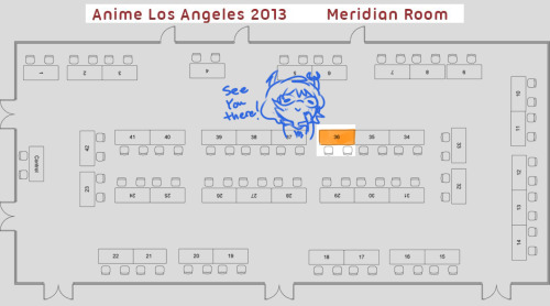 Gonna be at table 36A at ALAsitting next to my pal Symphalso my cosplay scheduleday 1-Robo arm Vriskaday 2-Araneaday 3-Meenahsee you guys there!