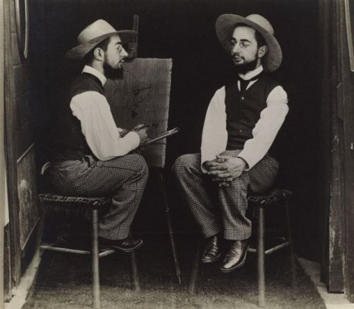 Henri de Toulouse-Lautrec as Artist and Model by Maurice Guibert, c. 1900