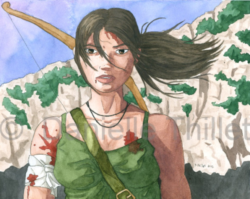 Lara Croft illustration for the Tomb Raider: Reborn contest on DeviantART