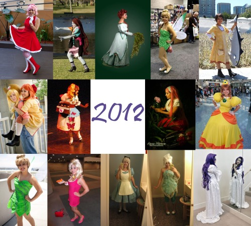 Yay 2012 Costumes =DStarting with Amy =D Wore her for ALA this year~ And never again lol the male sonic fandom..scares me I might wear her again once I make my hammer..or sell it Sally~ I bought it and wore if for halloween last year but I didn't finish til this year XP I might sell it..I HAD my Jack but no thx XD Historical Ariel~ I really want to sell it cause I hate how it is inside but I dont feel its worth anything cause of it lol I have to wear my corset with it cause the bodice is literally just the fashion layer »; Random Tink~ Lol I made this to test out my park seam pattern..but I ended up making it too short and not wide enough..at least I figured out how to fix it XP Renee~ Yay one of my favorite characters and costumes ^-^ Jameseseses fish was perfect for her haha Apple Bloom~ Yay recycling parts of other costumes XD Agitha~ Pisses me off how much time and work I put into this and some bean pole in a simple short bodysuit gets the craftmanship award >_> But this is about the time I started caring about the quality of my costumes :) I think I'm going to sell this costume Popuri~ Another one of my favorite HM girls haha I actually RP-ed as both..miss it Q-Q But just have no time to do it.  Daisy~ Dress made by my friend Cinthya and my grunt work XD I also styled my own wig and made all the accessories~ I LOVE this costume..I want to wear it again but we need to finish them lol story of all our costumes we do together Park Tink~ This one was made to test out my airbrush XD Its just a princess seamed dress so I sold it. My legit one will have the park seams :P Cause I'm anal about my Tinkerbells lol Francine~ This one came out of the blue XD Odd obsession I had Alice~ PCG/WDW costume =D I'm THRILLED how it came out ^_^ Periwinkle~ Slaved my friend Cinthya to make it for me in a few days XD; I was working on my families costumes so I had to ask her to make it, didn't trust anyone else to make it the way I wanted it. XP Me and my weirdness for weird seams. I painted it and Its still not done..all the inside work needs to be finished..someday XD Rarity~ I ALWAYS wanted to do Rarity but I never could figure it out so when I found my fabric for my christine dressing gown, I realized I could wear it with her -3-   This is the first year I started making my own patterns. ALL of these minus Sally (bought that costume) are made with patterns I made helped with in Peri's and Daisy's case.